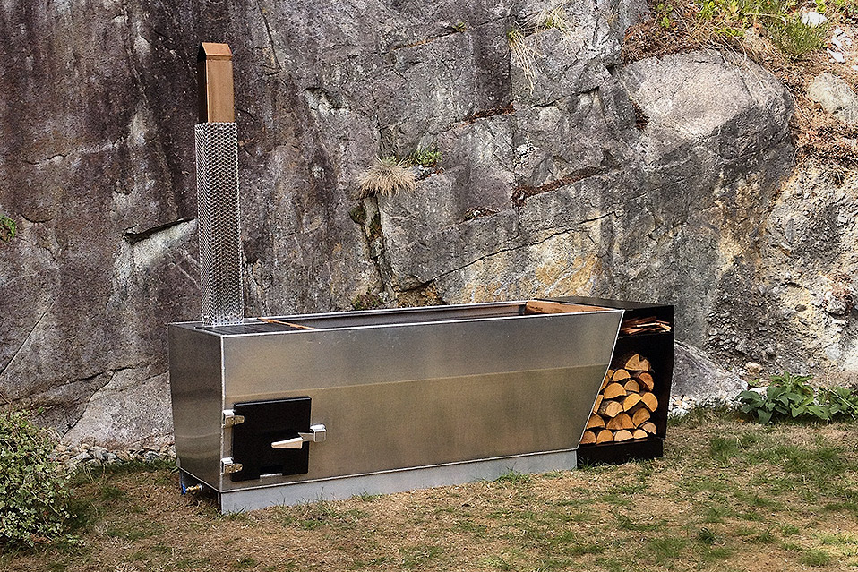 Soak Outdoor Wood Fired Hot Tub