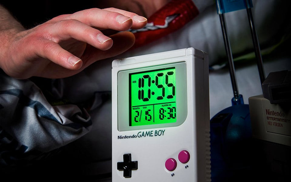 Game Over Game Boy Alarm Clock