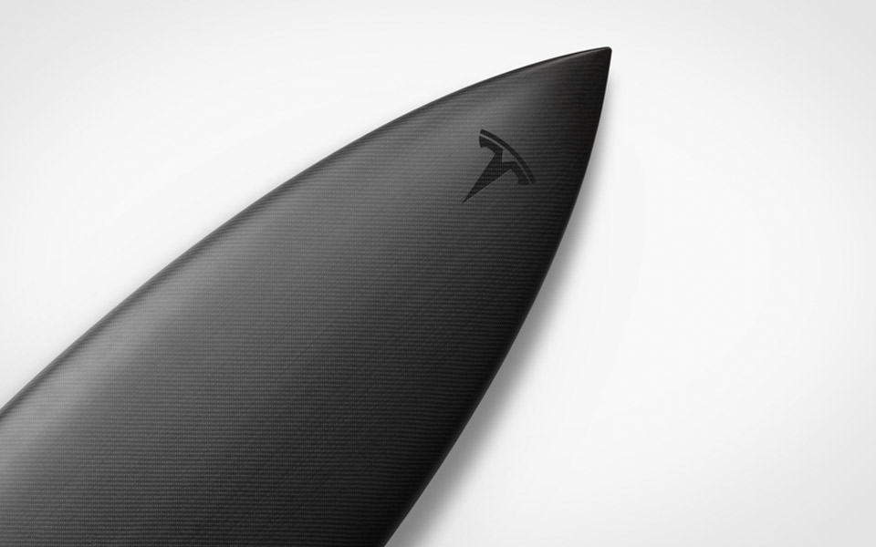Limited Edition Tesla Surfboard