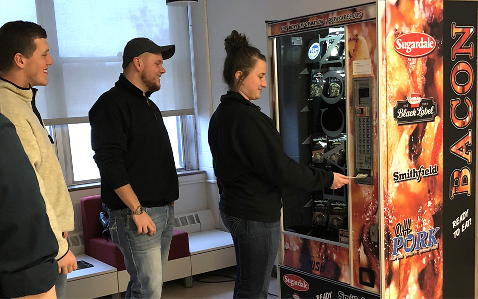 Universitet har installeret en bacon-automat