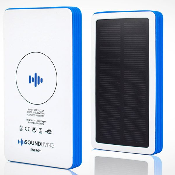 Soundliving Energy QI solcelle powerbank